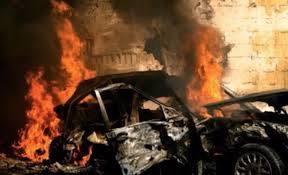 Explosion d'un véhicule suite à l'attentat